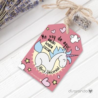 Etiqueta regalo Arre Unicornio