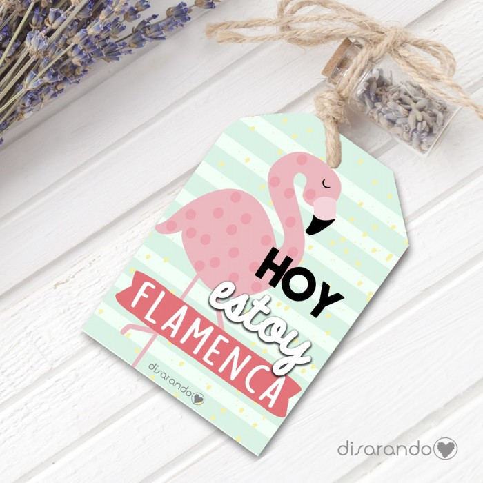 Etiqueta regalo Flamencos
