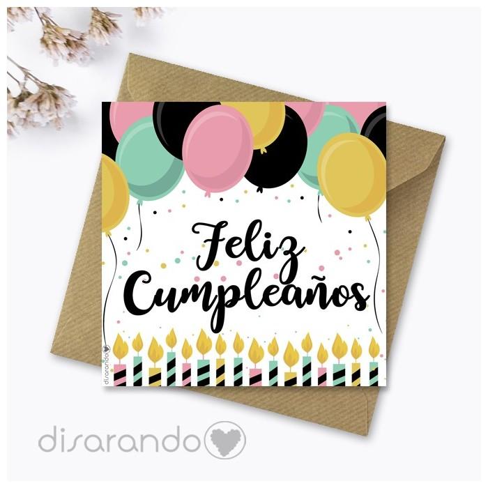 "Tarjeta ""Feliz Cumpleaños"""