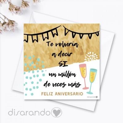 """Tarjeta """"Feliz Aniversario"""""""
