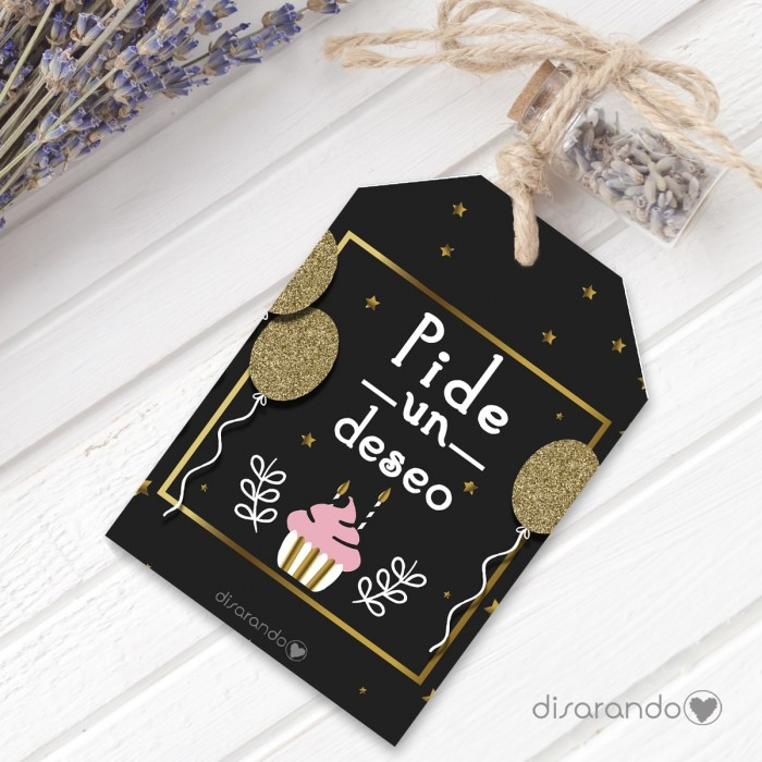 Etiqueta regalo Pide un deseo