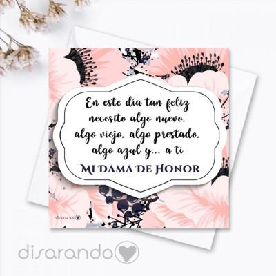 "Tarjeta ""Dama de Honor"""