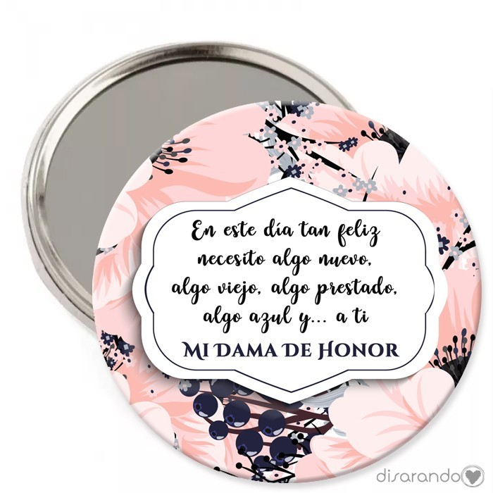 Espejos Para Madrinas Personalizados Espejos Con Frases Espejo Regalo Original Dama De Honor
