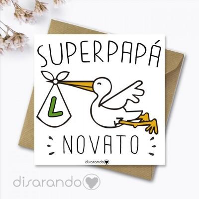 """Tarjeta """"Papá Novato"""""""