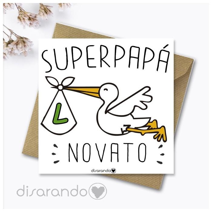 Tarjeta Papá Novato