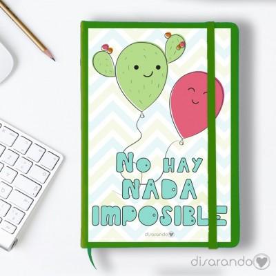 """Libreta """"No hay nada imposible"""""""