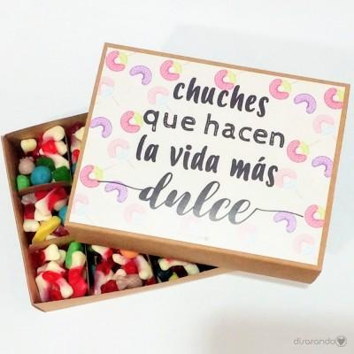 """Caja Chucherías """"Chuches que hacen la vida más dulce"""""""