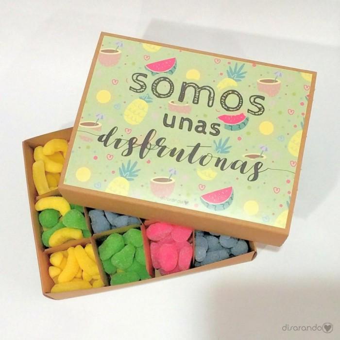 """Caja Chucherías """"Somos unas disfrutonas"""""""