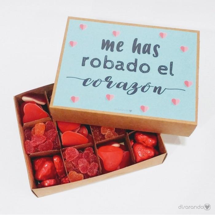 """Caja Chucherías """"Me has robado el corazón"""""""