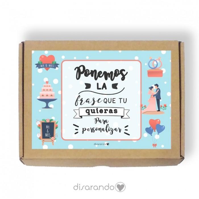 Caja personalizable Boda(3 tamaños)