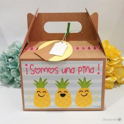 """Caja Picnic """"Somos una piña"""""""