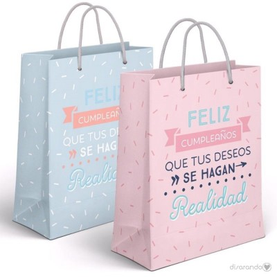 """Bolsa regalo Pequeña """"Feliz Cumpleaños"""""""