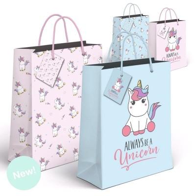 Bolsa regalo Unicornios XL