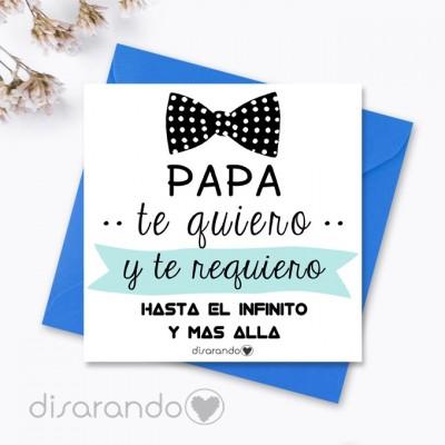 """Tarjeta """"Padre pajarita"""""""