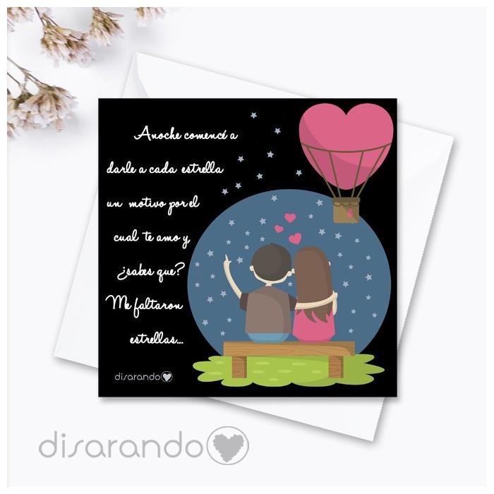 Tarjeta san Valentín - Love