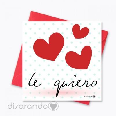 """Tarjeta """"Te quiero"""""""