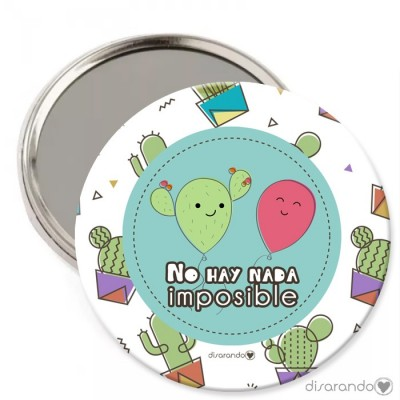 """Espejo """"No hay nada imposible"""""""