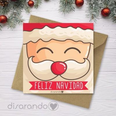 Tarjeta Navidad Papá Noel
