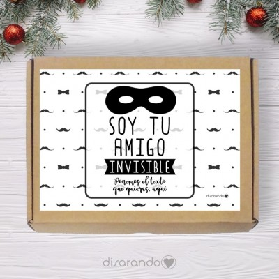 Caja personalizable 15 Amigo Invisible (Rectangular o Picnic)