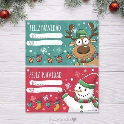 Etiquetas Navidad (2ud)