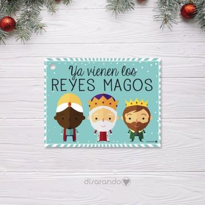 Etiquetas Navidad Reyes (4ud)