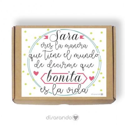 Caja personalizable 44 Vida Bonita (Rectangular o Picnic)