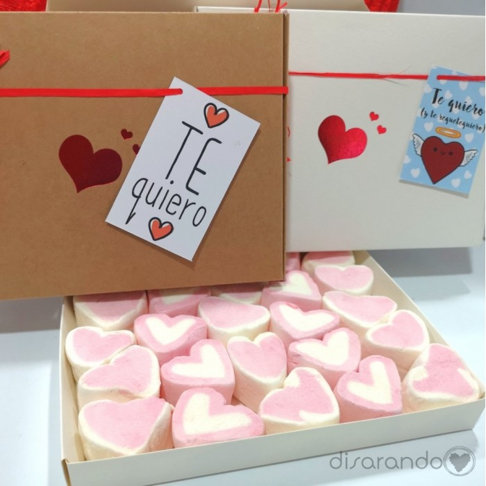 Caja corazón blanca