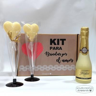 Kit Champán para Brindar por el Amor (Dos modelos)