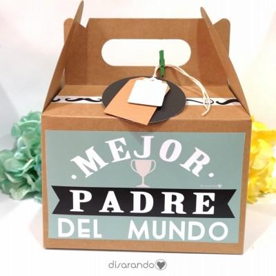 "Caja ""Mejor padre del mundo"" (Rectangular o Picnic)"