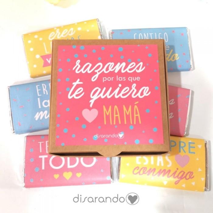 """Caja Chocolates """"Razones por las que te quiero mamá"""""""