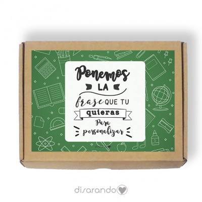 Caja personalizable Profe (Rectangular o Picnic)