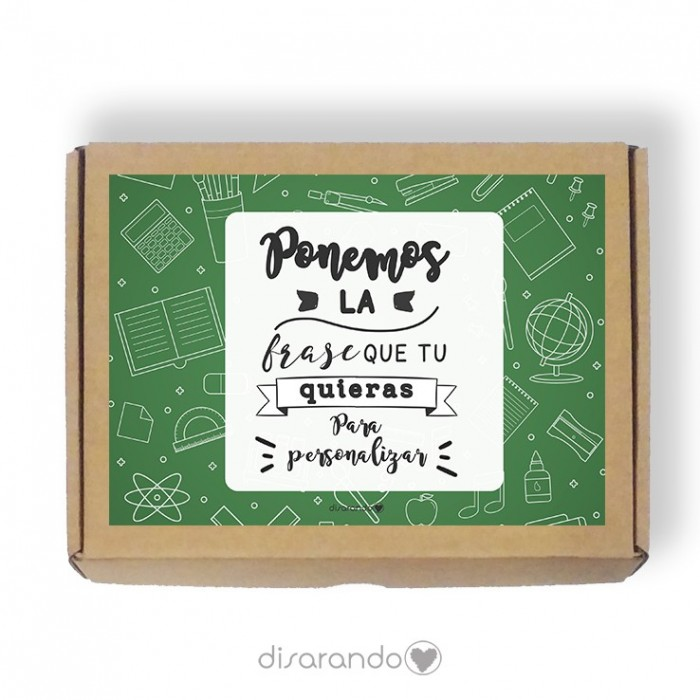 Caja personalizable Profe (Rectangular o Picnic)