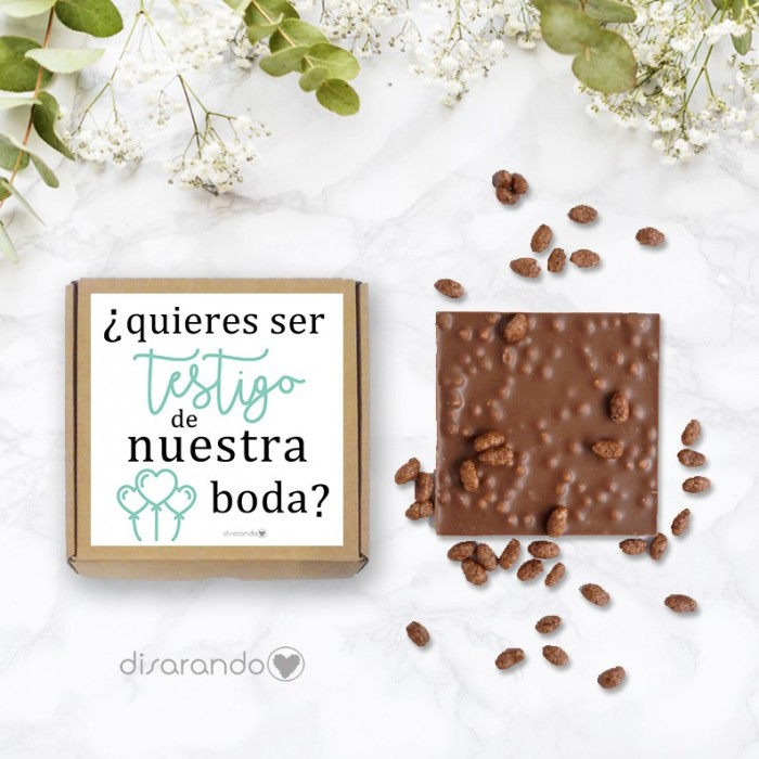 Chocolate ¿Quieres ser testigo de nuestra boda?