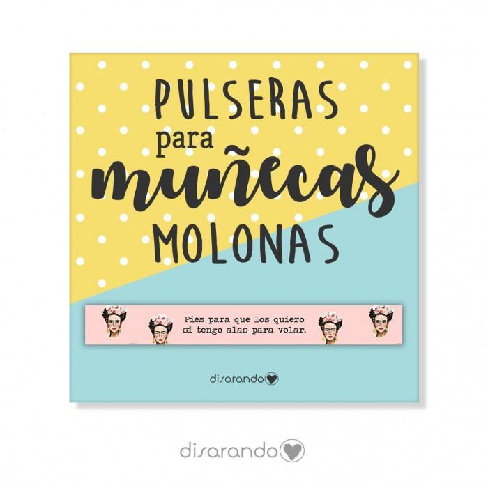 """Pulsera mensaje Frida """"Pies para que los quiero... """""""