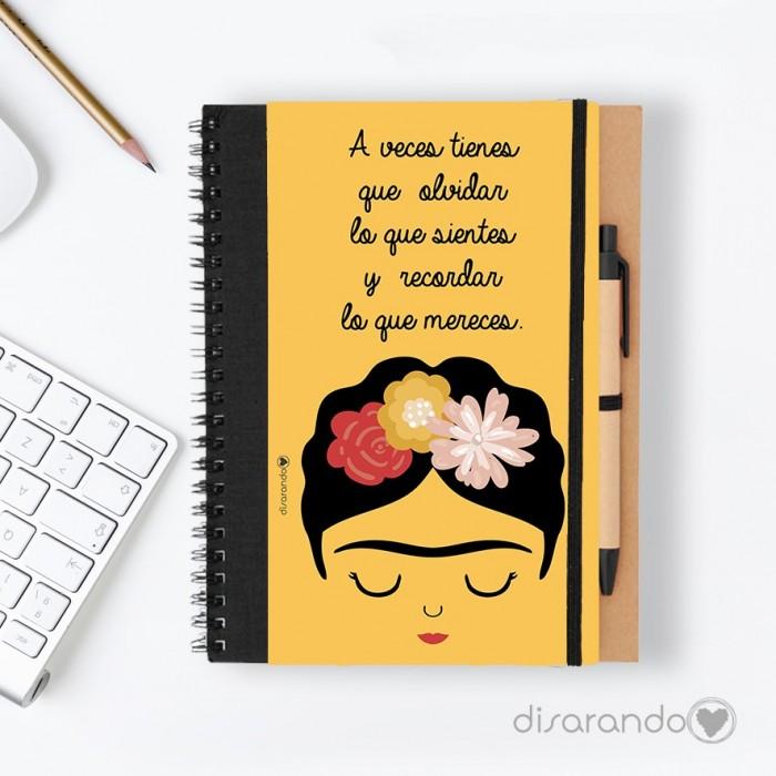 """Libreta Frida Khalo """"A veces tienes que olvidar..."""""""