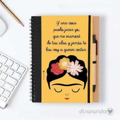 """Libreta Frida Khalo """"Y una cosa puedo jurar yo... """""""