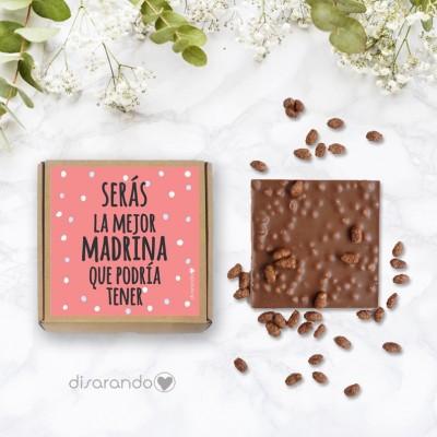 """Tableta Chocolate """"Serás la mejor madrina que podría tener"""""""