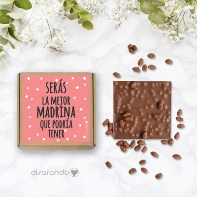 "Chocolatina ""Serás la mejor madrina"