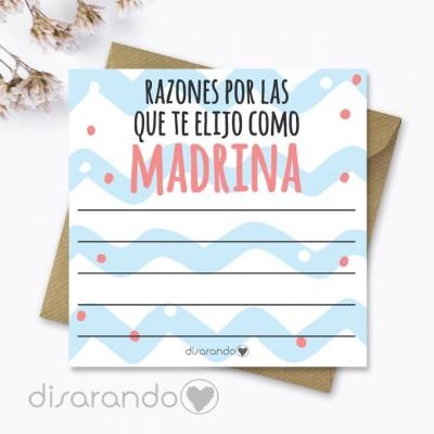 Tarjeta Razones Madrina