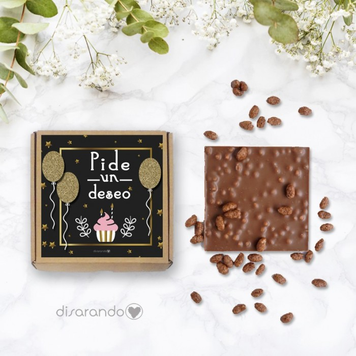 "Tableta chocolate ""Pide un deseo"""