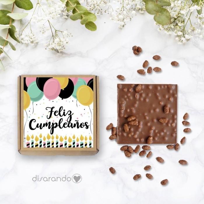 "Tableta chocolate ""Feliz Cumpleaños"""