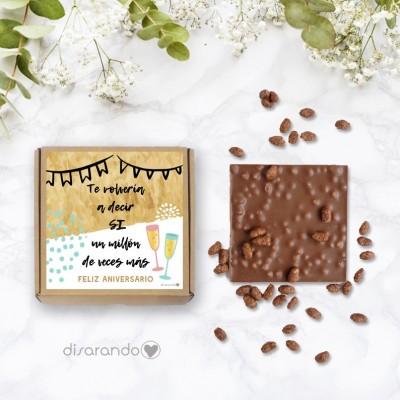 "Tableta chocolate ""Feliz Aniversario"""
