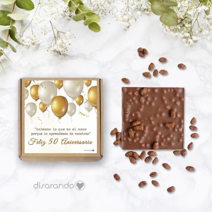 "Tableta chocolate ""Feliz 50 Aniversario"""