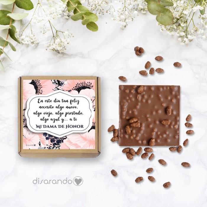 "Tableta chocolate ""Dama de Honor"""