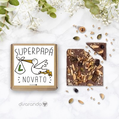 "Tableta chocolate ""Papá Novato"""