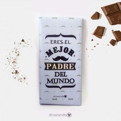 """Tableta Chocolate """"Eres el mejor padre del mundo"""""""