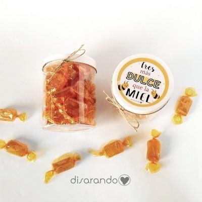 Bote caramelos Miel