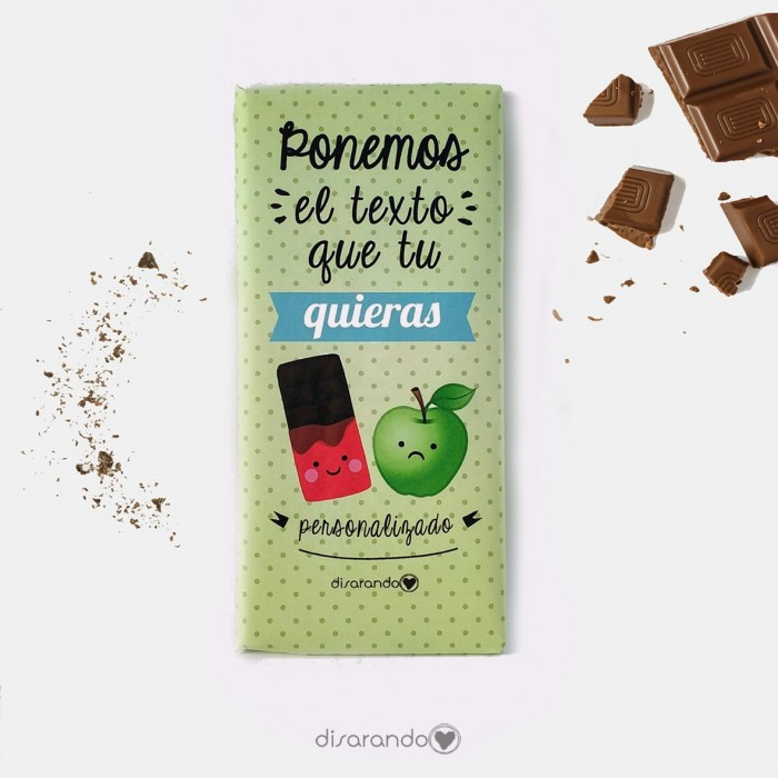Tabletas Chocolate Personalizada