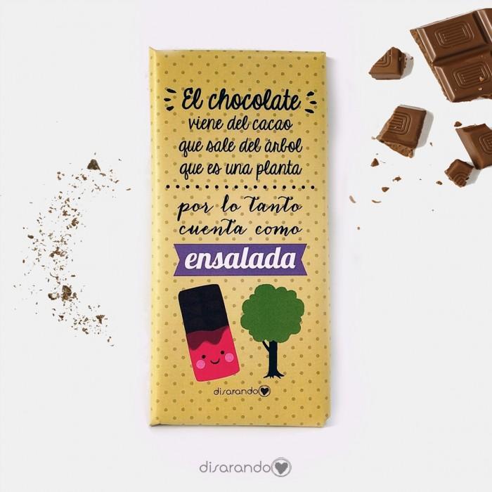 """Tableta Chocolate """"El chocolate viene del cacao... """""""