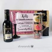 Kit vino personalizado (Varios diseños de caja)